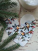 Dekorácie - Vianočná dekorácia- vtáčiky - 13809099_