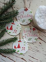 Dekorácie - Vianočné ozdoby Merry Christmas - 13810219_