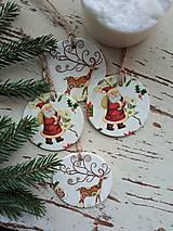 Dekorácie - Vianočné ozdoby Mikuláš - 13810354_