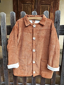 Detské oblečenie - Menčestrový detský kabátik - 13810696_