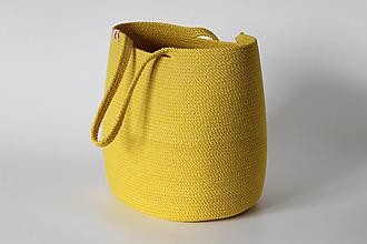 Kabelky - Provazová kabelka žlutá - 13813615_