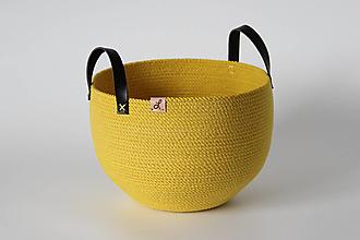 Košíky - Provazový košík žlutý - 13813632_