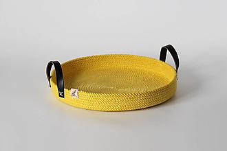 Košíky - Provazová ošatka žlutá - 13813647_