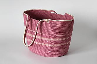 Kabelky - Provazová kabelka růžová - 13813677_