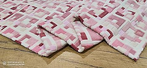 Textil - Flis- cena za 10 centimetrov (Štvorčeky) - 13813151_