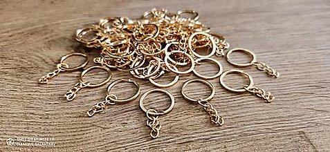 Komponenty - Základ na kľúčenku - zlatý - 13815106_