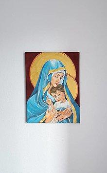 Obrazy - 2. Panna Mária a Ježiš, akryl, 30 x 40 cm - 13814165_