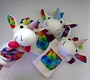 Hračky - Maňuška jednorožec - 13812975_