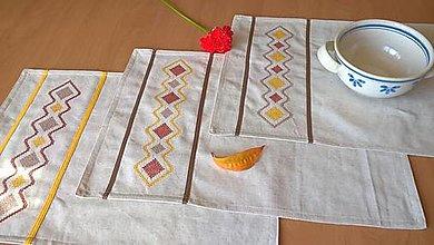Úžitkový textil - Prestieranie, dečka s výšivkou - 44x30 cm - 13814168_