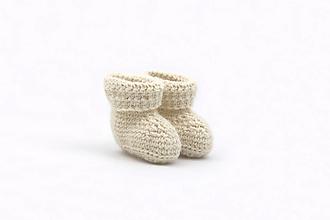 Detské topánky - Krémové papučky ALPACA - 13814435_