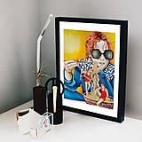 Grafika - Little sugar in my bowl - fine art print - 13816809_