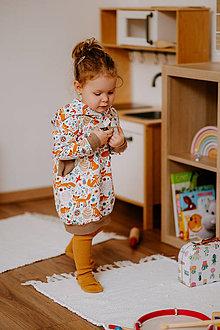 Detské oblečenie - Dievčenské mikinové šaty - 13813905_
