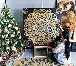 """Dekorácie - RODINNÁ MANDALA na """"mieru"""" k Vianociam,originálny vianočný dar,talizman pre celú rodinu,energetický feng shui obraz - 13813106_"""