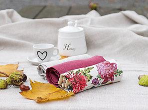 Úžitkový textil - Darčekové balenie ľanových utierok - 13815603_
