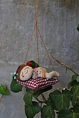 Dekorácie - spiaca Víla / Vianočná ozdoba - 13815919_