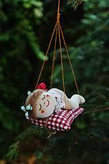 Dekorácie - spiaca Víla / Vianočná ozdoba - 13815973_