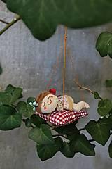 Dekorácie - spiaca Víla / Vianočná ozdoba - 13815976_