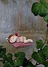 Dekorácie - spiaca Víla / Vianočná ozdoba - 13816021_