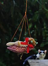 Dekorácie - spiaca Víla / Vianočná ozdoba - 13816034_