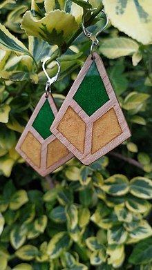 Náušnice - Drevené náušnice so živicou vyrobené z bukového dreva a háčiky sú zo striebra. .Rôzne farebné prevedenia aj na želanie. - 13818783_