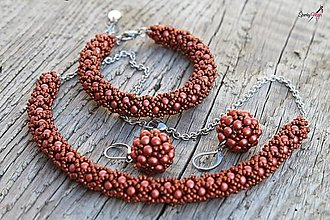 Sady šperkov - súprava PP medená (súprava PP medená) - 13818958_