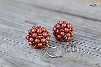 Sady šperkov - súprava PP medená (náušnice PP medené) - 13819014_