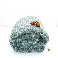 Úžitkový textil - Hrubá hrejivá pletená deka do kočíka (100% alpaka a hodváb) - 13818220_