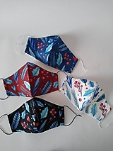 Rúška - Dámske dizajnové rúško prémiová bavlna antibakteriálne s časticami striebra dvojvrstvové tvarované - 13816876_