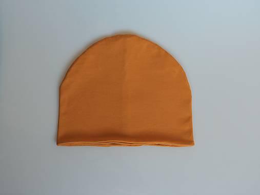 Dizajnová úpletová čiapka horčicová