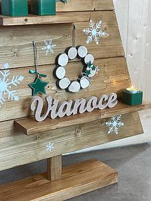 Dekorácie - Vianočný stromček tmavozelený - 13820253_