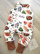 Detské oblečenie - Tepláky lesné zvieratka - 13817905_