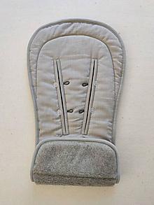 Textil - VLNIENKA podložka do kočíka THULE  Urban Glide 2 100% MERINO TOP SUPER WASH Grey 100% ľan šedý - 13819336_