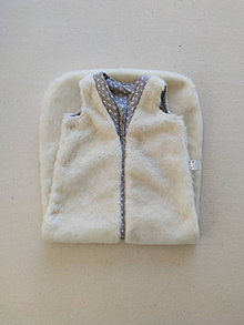Textil - VLNIENKA Spací vak pre deti a bábätká 100% MERINO Top XS/S/M/L/XL/XXL Hviezdičky šedé ŠZ - 13819398_