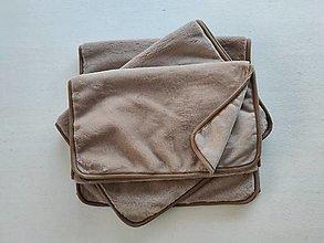 Textil - VLNIENKA prehoz na gauč a kreslá na mieru VELVET acryl Capuccino  3+2+1/ 3+1+1/ROHOVA SEDAČKA - 13819617_