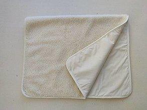 Úžitkový textil - Deka vlnená 100% ovčie rúno vo vlase Baranček 140x 200cm 100% bavlna ECRA - 13819738_