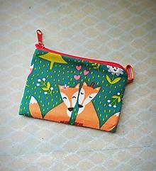 Peňaženky - Mini taštička s líštičkou - 13819406_