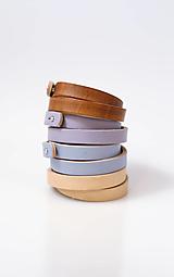 Náramky - Kožené remienky - set štyroch ručne farbených remienkov - 13818757_