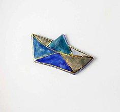 Brošne - Tana šperky - keramika/zlato - 13817078_