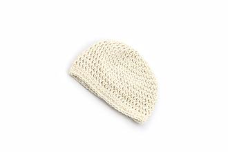 Detské čiapky - Krémová čiapka ALPACA - 13818953_