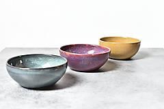 Nádoby - Raňajková miska z kameniny - rôzne farby - 13820162_