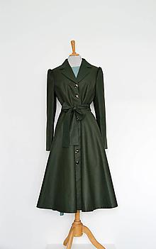 Kabáty - Bavlnený trenčkot s pogumovaným povrchom s kruhovou sukňou - 13819886_