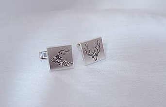 Iné šperky - Manžetové gombíky jeleň - 13819030_