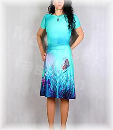 Šaty - Šaty s řasením v pase vz.663 - 13821873_