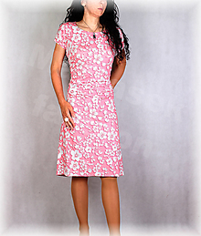 Šaty - Šaty s řasením v pase vz.677 - 13821941_