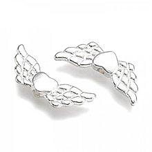 Komponenty - PR18 - kovový prívesok - anjelské krídla, 21x9 mm - 13823085_