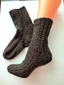 Obuv - Ponožky GOTS- 100 % bio, fair trade shetland vlna - 13824410_