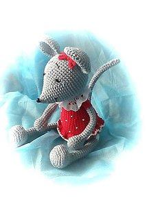 Hračky - Šedá myška - 13821724_