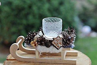 Dekorácie - Vianočný svietnik - 13821831_