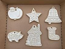 Dekorácie - vianočná sada šiestich ozdôb - 13821104_