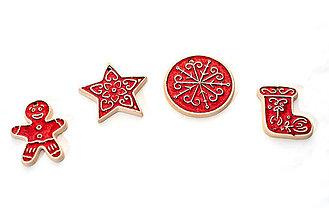 Dekorácie - vianočná sada šiestich ozdôb - 13821121_